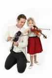 Leçon de violon Photos libres de droits