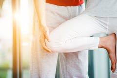 Leçon de yoga Images libres de droits