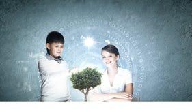 Leçon innovatrice de technologies Photo libre de droits