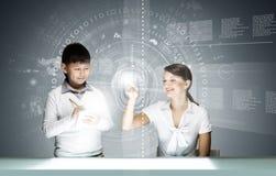 Leçon innovatrice de technologies Images stock
