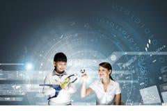 Leçon innovatrice de technologies Image libre de droits