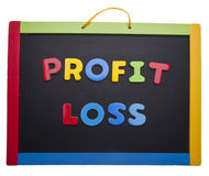 Leçon sur de profits et pertes photo stock