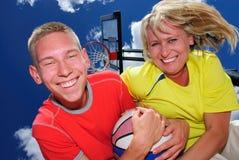 Leçons de basket-ball Photos libres de droits