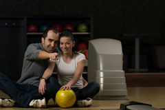 Leçons de bowling Images libres de droits