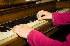 Leçons de piano Images libres de droits