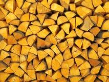 Leña de la madera del aliso Imágenes de archivo libres de regalías