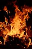 Leña y fuego Fotografía de archivo