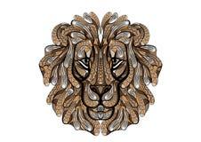 León étnico stock de ilustración