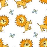 León amarillo sonriente Imagen de archivo libre de regalías