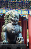 León chino de piedra; Foto de archivo