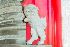 León chino en el templo Fotografía de archivo libre de regalías