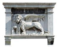 León con alas. Fotos de archivo