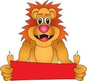 León con la muestra Foto de archivo