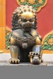 León de bronce Fotografía de archivo libre de regalías