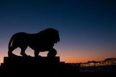 León de piedra Foto de archivo libre de regalías