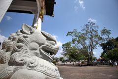 León de piedra Imagenes de archivo