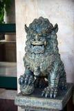 León de piedra chino foto de archivo