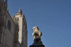León de piedra Segovia Foto de archivo libre de regalías