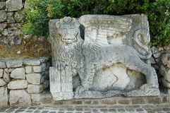 León de St Mark en Rijeka, Croacia Foto de archivo libre de regalías