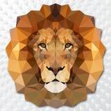 León de triángulos Imágenes de archivo libres de regalías