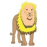 León del animal del ejemplo del diseño de la historieta del icono Foto de archivo libre de regalías