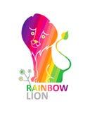 León del arco iris. Imagen de archivo libre de regalías