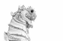 León del blanco del estuco Imagenes de archivo