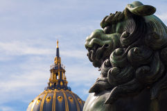 León del dragón Imagen de archivo