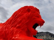 León del festival del diseño Fotos de archivo