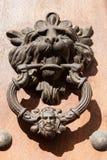 León del golpeador de puerta formado Imagen de archivo libre de regalías