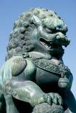 León del guarda Imágenes de archivo libres de regalías