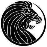 León del rugido ilustración del vector