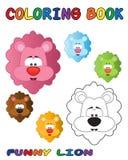León divertido - libro de colorante Fotos de archivo