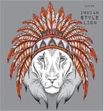 León en la cucaracha india Fotografía de archivo