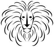 León estilizado en blanco y negro libre illustration