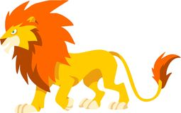 León fresco ilustración del vector