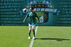 Rafael Marquez se presenta oficialmente como nuevo jugador del CLUB LEÓN Fotografía de archivo libre de regalías