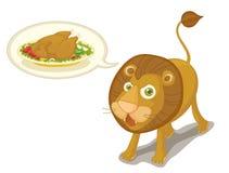 León hambriento ilustración del vector