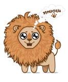 León hambriento lindo ilustración del vector