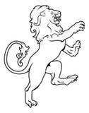 León heráldico del escudo de armas Foto de archivo libre de regalías