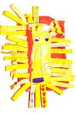 León/ilustraciones de un niño stock de ilustración