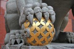 León imperial del guarda Foto de archivo libre de regalías