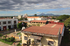 León, Nicaragua seen from the roof of the cathedral stock photo