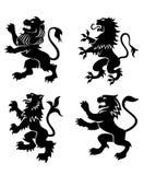 Leões heráldicos reais Fotos de Stock Royalty Free