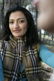 leśna kobieta uśmiechnięta Fotografia Stock