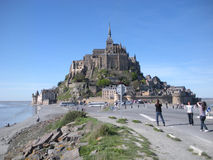 Le圣米歇尔山,诺曼底,法国 免版税图库摄影