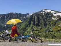 Le环法自行车赛爱好者  图库摄影