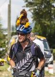 Le环法自行车赛爱好者 免版税库存照片