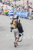 Le环法自行车赛的摄影师 免版税库存照片