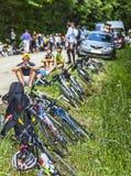 Le环法自行车赛的观众 免版税库存图片